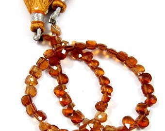 Natural Hessonite Garnet Gemstone,Faceted Fancy Beads,Wire Wrappped Making Jewelery,Gemstone Size 4-5 mm,Full 1 Strands X 8 inches,BL-48