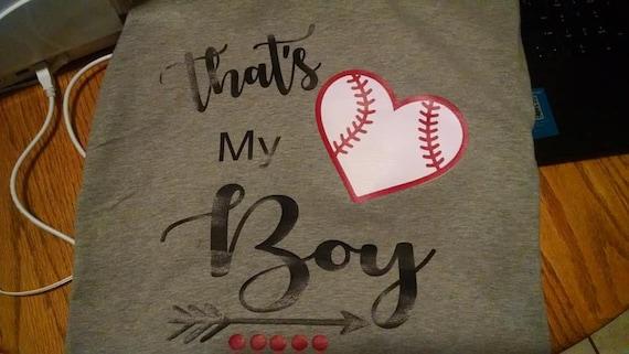 Thats My Boy Baseball Mom T-shirt Vinyl Boy Girl Team S-XXXL