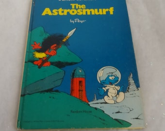Two Sided Smurf Hardcover Comic Book--The Astrosmurf(1978)/King smurf(1977). HTF