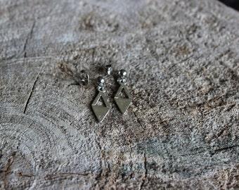 Boucles d'oreilles lozange / Silver earrings (BO-1079)