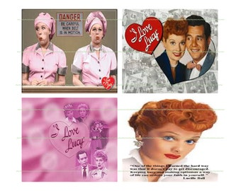 INSTANT DOWNLOAD Banner I Love Lucy Party Banner Lucy Birthday Banner Printable Lucy Party Printable Lucy Ricky Party Banner Lucy Chocolate
