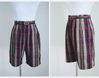 50s Vintage Bermuda Shorts | 1950s High Waisted Shorts