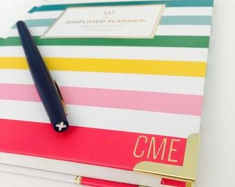 Simplified Planner Monogram Decal Sticker | Weekly Simplified Planner Monogram | Daily Simplified Planner Monogram | Gold Foil Monogram