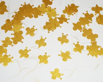 Gold Bee Confetti, Birthday Confetti, BeeTheme Party, Wedding Table Confetti, Birthday Favor, Gold Confetti, Hand Punched Confetti Expired