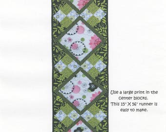 "Virginia Robertson - Four Hour Table Runner Pattern - 15"" x 56"" - FHTRD"
