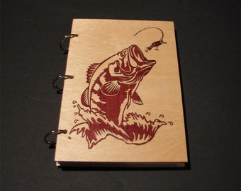 Wooden notebook, wood book, personalized journal