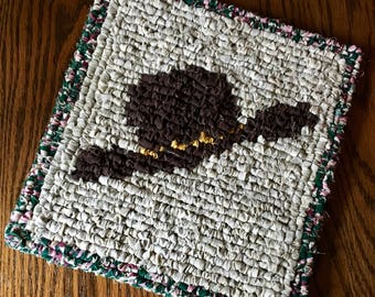 Locker Hook Western Style Cowboy Hat Table Mat / Trivet / Hot Pad / Wall Hanging