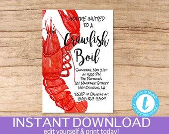Crawfish invitation Etsy