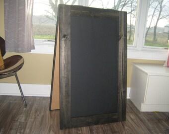Extra lage sandwich chalkboard standing rustic sidewalk chalk board.  A frame, custom made business sign, menu rustic farmhouse wedding