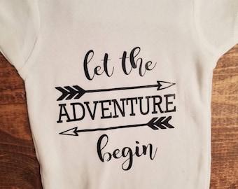 let the Adventure begin Baby Onesie
