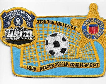 Secret Service USSS Indoor Soccer Tournament 1998 Stop The Violence Agent Service Patch
