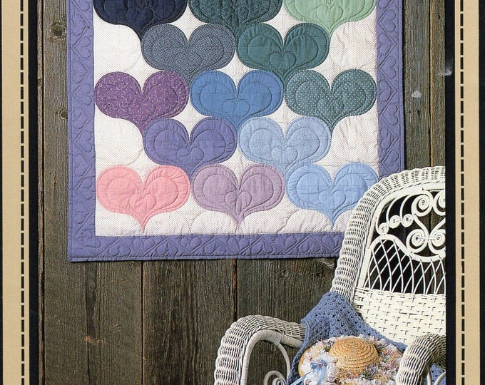 Free Usa Shipping Heart to Heart Quilt Craft Sewing Pattern Calico Farms 1985 New Condition Folk Art Primitive