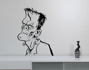 Frankenstein Wall Sticker Removable Vinyl Decal Gothic Horror Monster Art Decorations for Home Housewares Living Room Bedroom Decor frk2