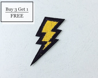 Thunder Patch - Iron on Patch, Sew On Patch, Embroidered Patch