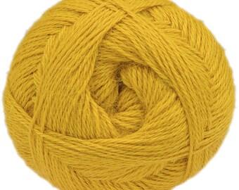 Yellow Yarn - 100% Alpaca - Fine - 100 gr./ 400 yd.