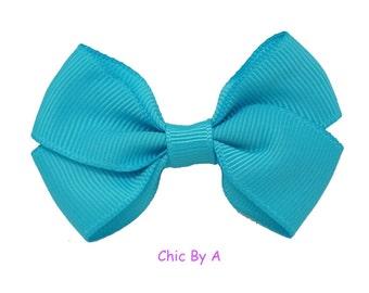 "5 Hair Bows,YOU CAN CHOOSE,Blue, Pink,Yellow, Purple Set of 5 , 2.5"", Baby Girl Hair Grosgrain, Mini,Tiny Hair Clip, Girl Hair Accessories,"