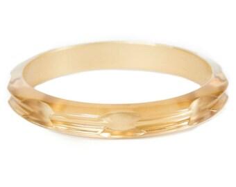 Hair Tie Bracelet, Hair Tie Holder, Hair Tie Bangle Plastic - Gold