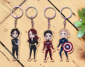 Captain America Civil War Acrylic Keychain Charms