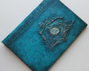 Refillable Journal Handmade Turquoise Sea Jewel 7x5 Original