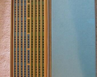 Vintage Easy Score Wood Cribbage Board