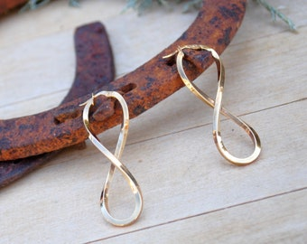 Infinity Gold Earrings / Made in Italy / Fine Jewelry