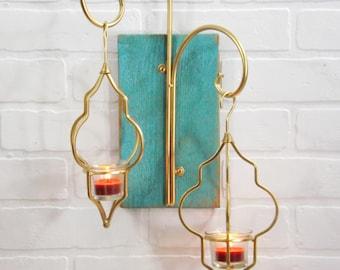 Bohemian, Boho Decor, Boho Chic,Candle Holder,Living Room,Bedroom Decor,Wall Sconce,Wall Lantern,Lamp,Gift for Her,Moroccan,Lantern