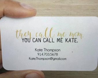 Mom Card Business Card or Calling Card