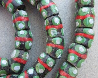 Krobo Glass Beads (12x28mm) [67961]