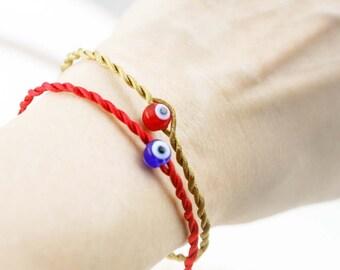 Evil eye unisex bracelet x 2 - glass bead