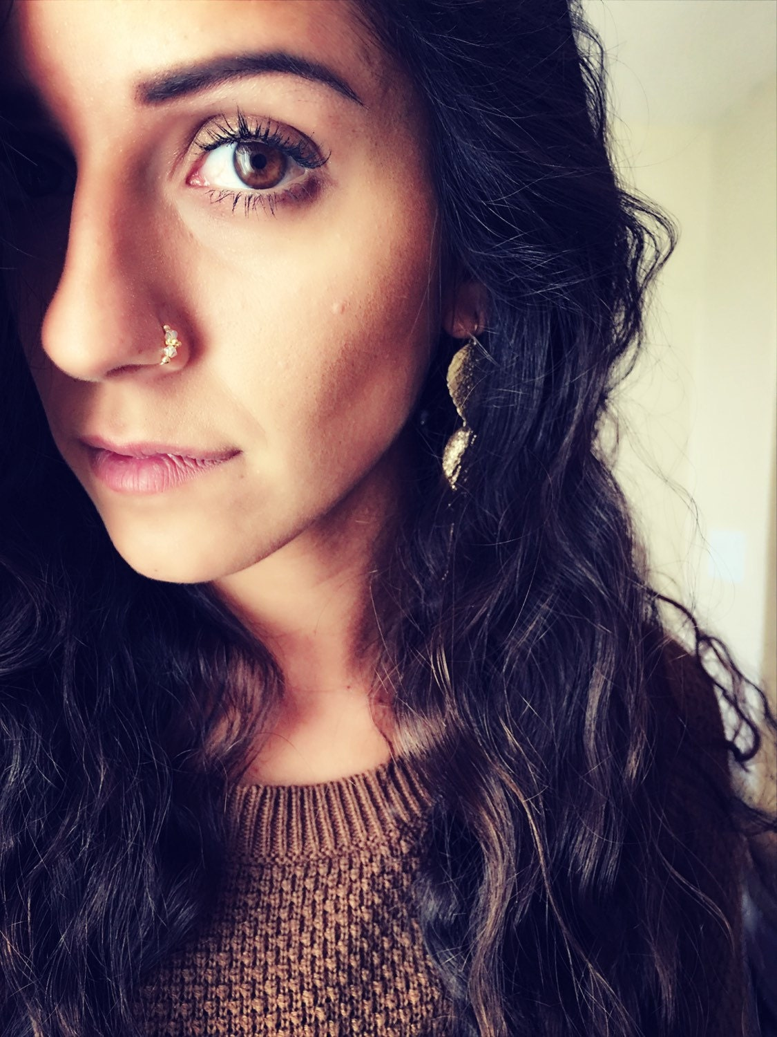 Nose Ring. Indian nose ring. nose rings. Septum. Handmade.