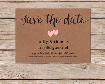 Rustic Save The Date Template Editable Save The Date Cards - Rustic save the date templates