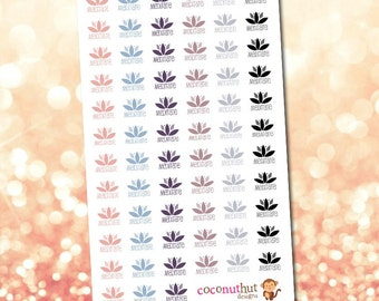 Lotus Meditation Planner Stickers