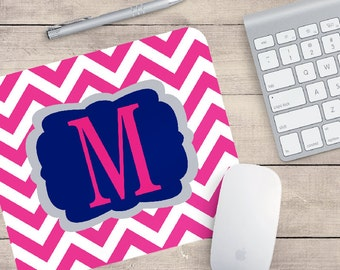 Nice Monogram Chevron Mouse Pad   Office Decor   Coworker Gifts   Employee Gift    Preppy Gift