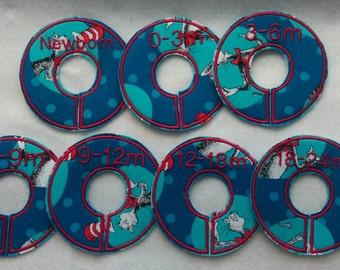 Dr. Seuss mini closet divider set