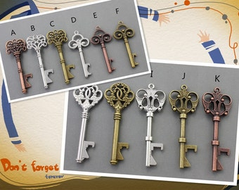 Multiple Quanties Variety of Skeleton Keys All Bottle Openers Sized Alice in Wonderland party wedding decorations