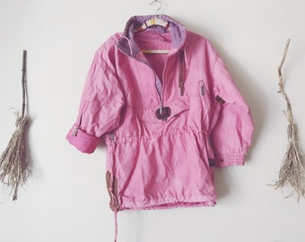 80s Dusty Pink Ski Pullover Jacket