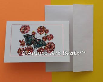Hand drawn greeting cards/art/drawing/Thank You cards/Everyday Occasion cards