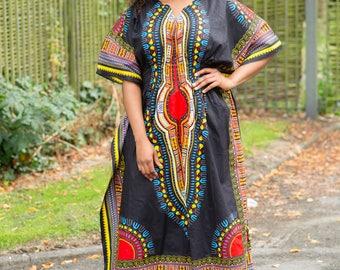 Dashiki dress,tunic,african prints,danshiki gown,