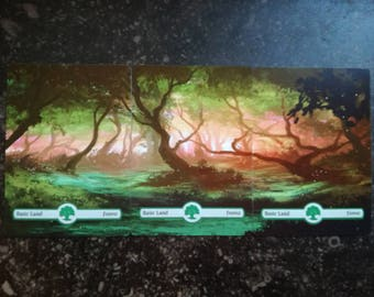 Panoramalands - Forest A - Magic The Gathering Altered-Artwork Cards