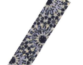 Shining Night Garden Wide Peyote Cuff Bracelet