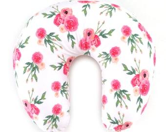 Nursing Pillow Cover Emmie Gray. Nursing Pillow. Nursing Pillow Cover. Minky Nursing Pillow Cover. Floral Nursing Pillow Cover.