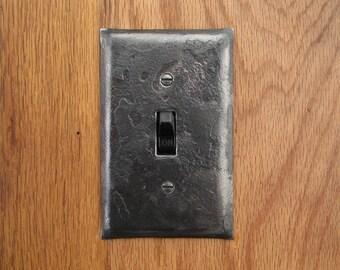 Switch Plate - Fire Cooked Single Switch Cover Plate - Blacksmith Forged