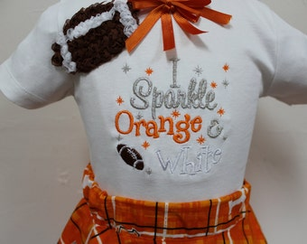 Tennessee, Volunteers, Vols,  baby girl, Orange and white, t shirt, tshirt, football, shirts, custom, personalized, twirl skirt, girl shirts