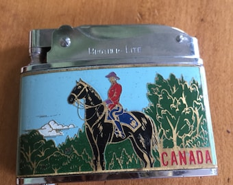 Vintage Brother-Lite Royal Canadian Mounted Police / Canada lighter