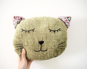 Cat Pillow, Decorative Pillow, Cat Cushion, Throw Pillow, Kitty Pillow, Cat Lover Gift, Home Decor, Cat Decor, Animal Cushion, FREE SHIPPING
