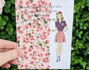 Feminist Encouraging Women Handmade Greeting Card