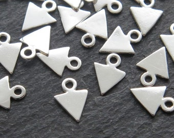 Sterling Silver Triangle Charm 8mm