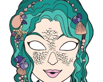 Mermaid Mask - Digital File