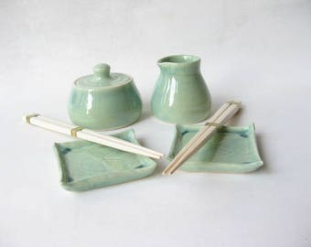 Sushi Serving Dishes, Soya Sauce Decanter, Small Lidded Jar, Sushi Sauce Dishes