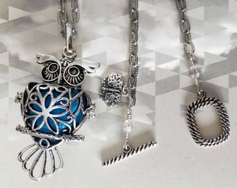 This Little Owl Necklace Is the Essential Oil Guy! He is a Handcrafted Original!